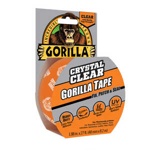 Gorilla  1.88  W x 27  L Repair Tape  Clear