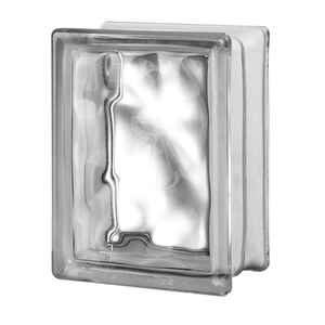 Seves  8 in. H x 6 in. W x 4 in. D Nubio  Glass Block