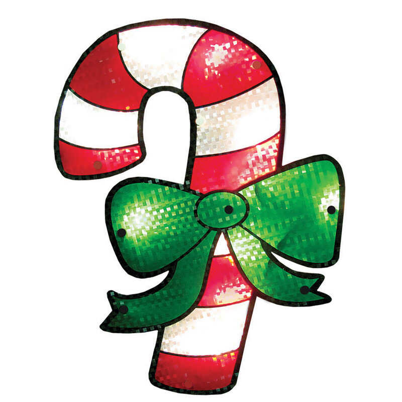 Impact Innovations  Candy Cane  Red/Green  Silhouette  1 each PVC