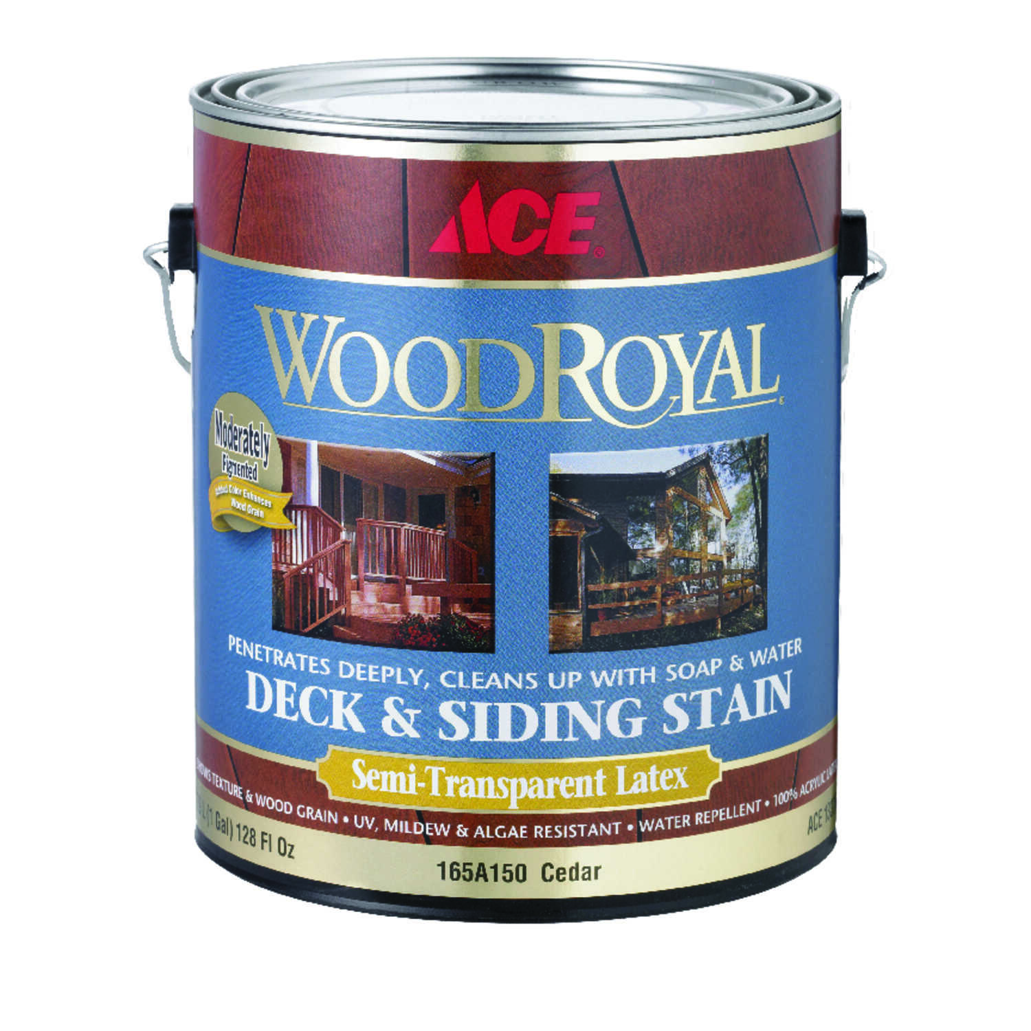 Ace  Wood Royal  Semi-Transparent  Cedar  Acrylic  Deck and Siding Stain  1 gal.