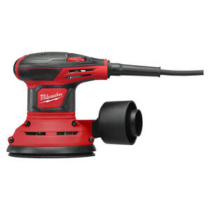 Milwaukee  5 in. Corded  Random Orbit Palm Sander  Kit 3 amps 120 volt 12000 opm Red