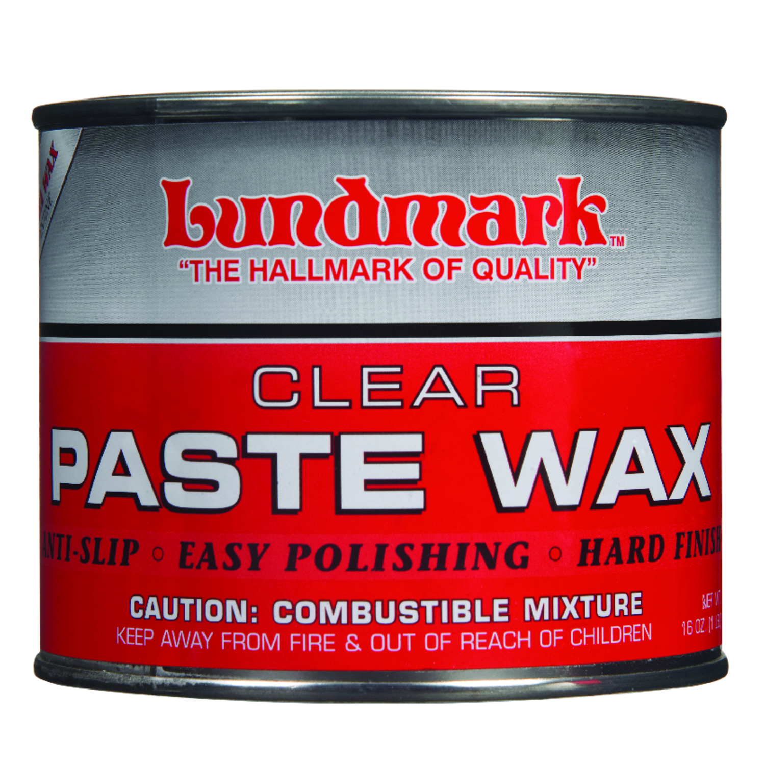 Lundmark  Clear Paste Wax  Hand Rubbed Old World  Floor Wax  Paste  16 oz.