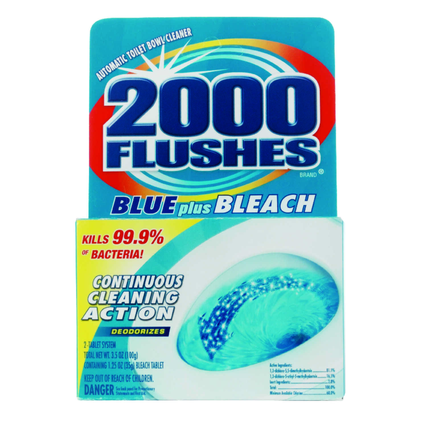 2000 Flushes Clean Scent Automatic Toilet Bowl Cleaner 4 oz. Tablet ...