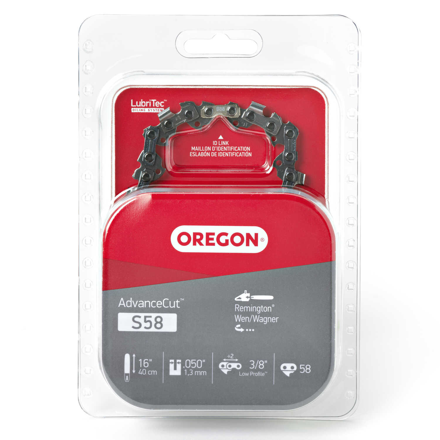 Oregon  16 in. L 58 links Chainsaw Chain