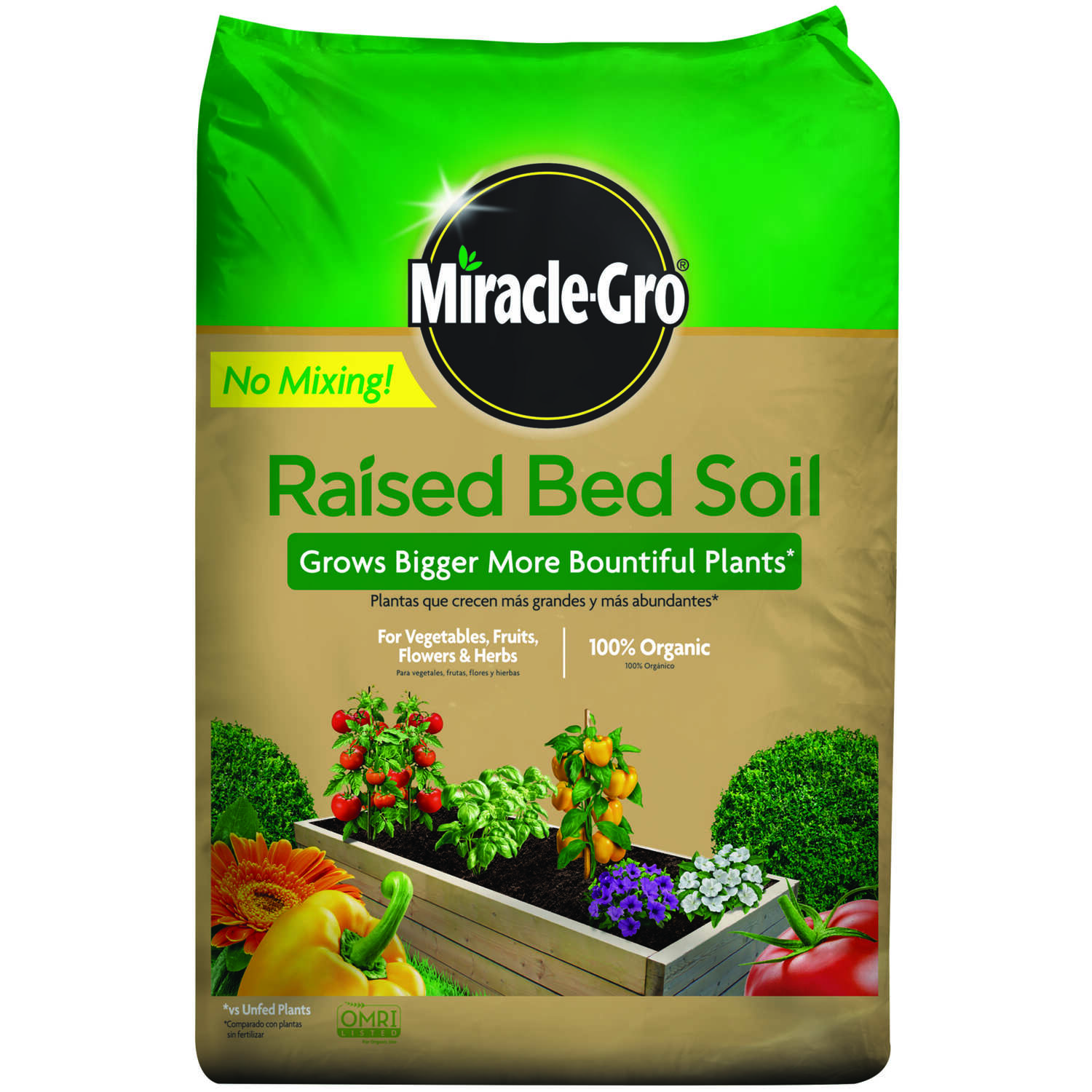 Miracle-Gro  Organic 0.09-0.08-0.09  Raised Bed Soil  1.5