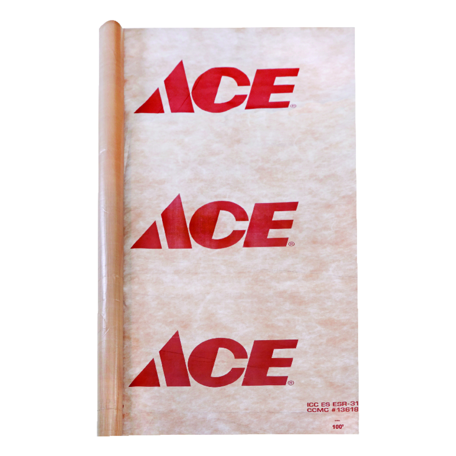 Ace  Housewrap Tear Resistant 9 ft. x 150 ft.  500 sq. in.  ICC Code 9 ft.