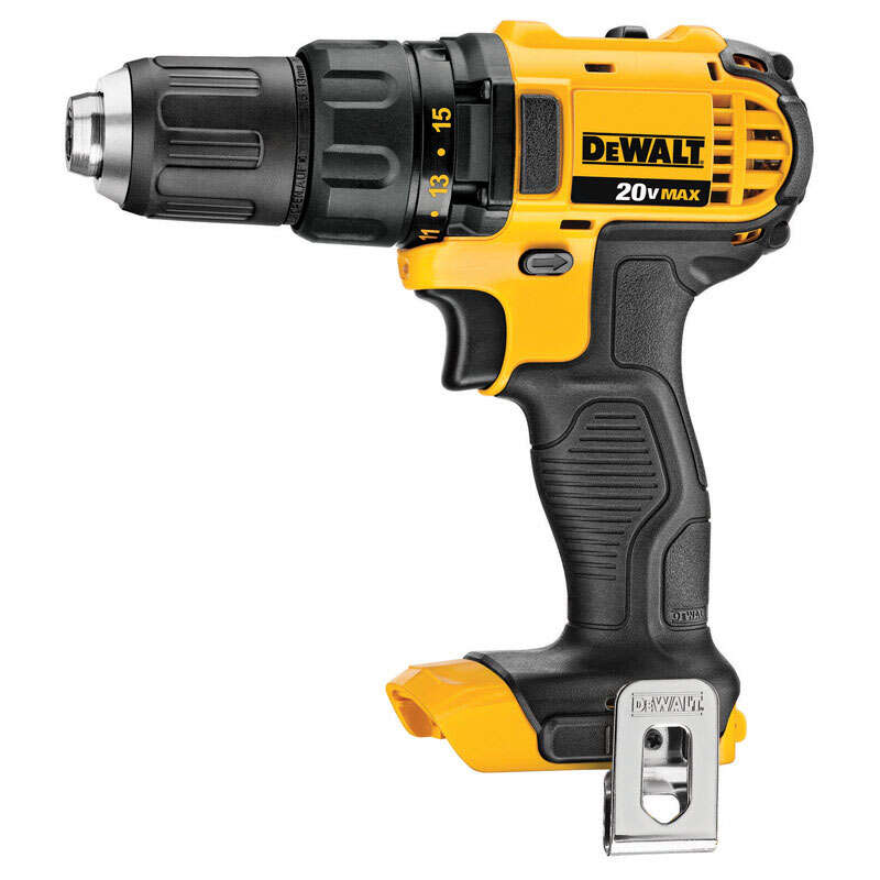 DeWalt  20 volt Brushed  Cordless Drill/Driver  Bare Tool  1/2 in. 2000 rpm