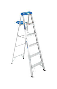 Werner  6 ft. H x 21.5 in. W Aluminum  Type I  250 lb. Step Ladder