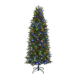 Celebrations 7 ft. Slim Incandescent 300 count Lexington Color Changing Christmas Tree