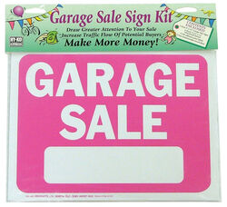 Hy-Ko English Pink Informational Sign Kit 9 in. H x 12 in. W