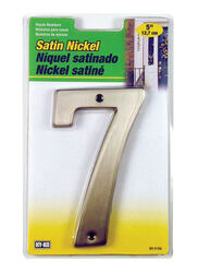 Hy-Ko  5 in. Silver  Metal  Nail-On  Number  7  1 pc.