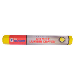 C.H. Hanson 4.5 in. L x 0.5 in. W Lumber Crayon Yellow Metal 1 pc.