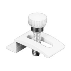 Prime-Line  White  Aluminum  Screen/Storm Door Clip  For 1/2 inch 8 pk