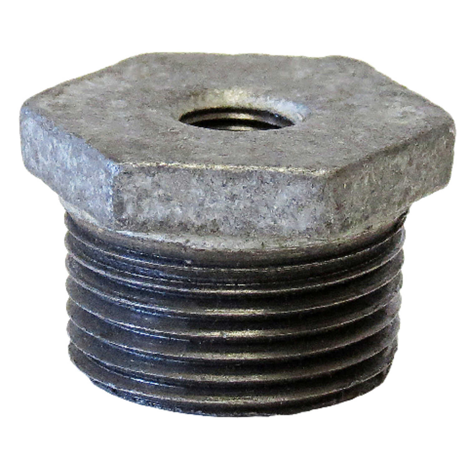 Anvil  3/8 in. MPT   x 1/4 in. Dia. FPT  Galvanized  Steel  Hex Bushing