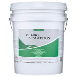 Clark+Kensington Satin Tint Base Ultra White Base Premium Paint Exterior 5 gal.