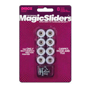 Magic Sliders  Plastic  Floor Slide  Round  3/4 in. W x 3/4 in. L 8 pk Gray