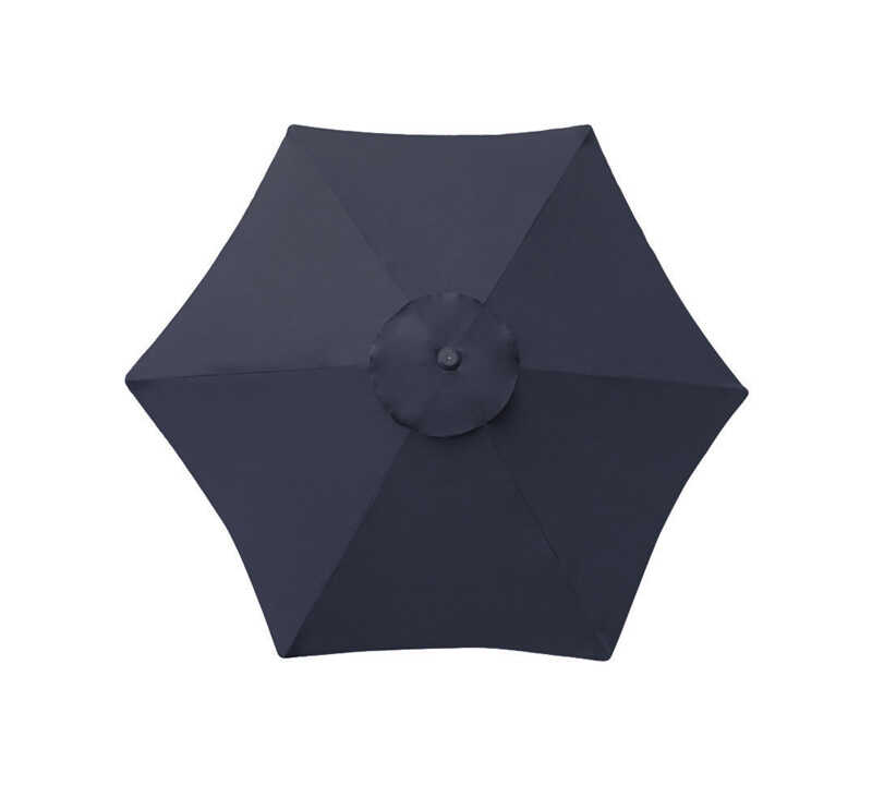 Living Accents  Deluxe  9 ft. Navy Blue  Patio Umbrella