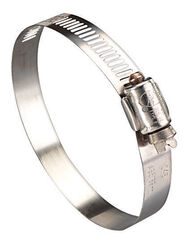 Ideal  Hy Gear  2-1/2 in. to 4-1/2 in. SAE 64  Silver  Hose Clamp  Stainless Steel  Band