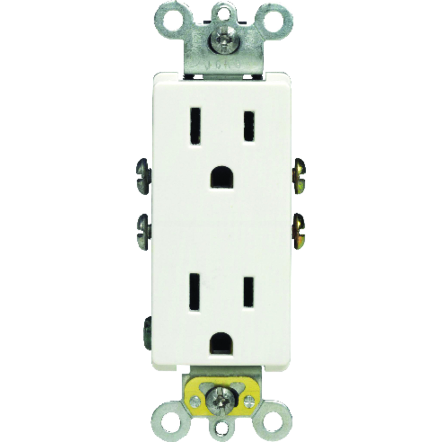 Leviton Decora 15 Amps 125 Volt White Outlet 5