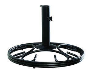 Living Accents  Black  Cast Iron  Umbrella Base  19-1/2 in. W x 13 in. H