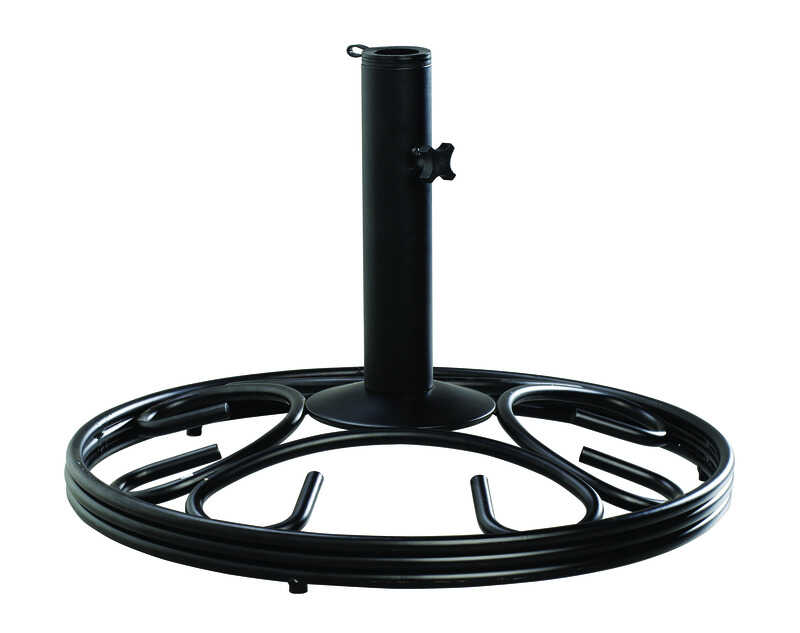 Living Accents Black Cast Iron Umbrella Base 19 1 2 In W X 13 In H