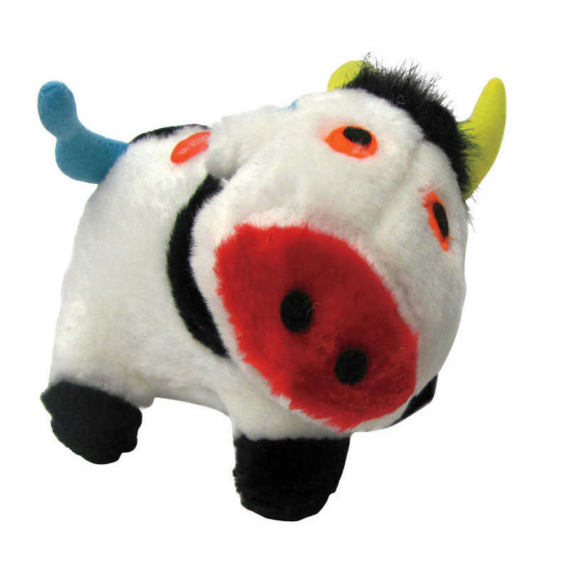 Diggers  Multicolored  Plush  Dog Toy  Large  Cow
