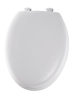 Mayfair  Elongated  White  Molded Wood  Toilet Seat