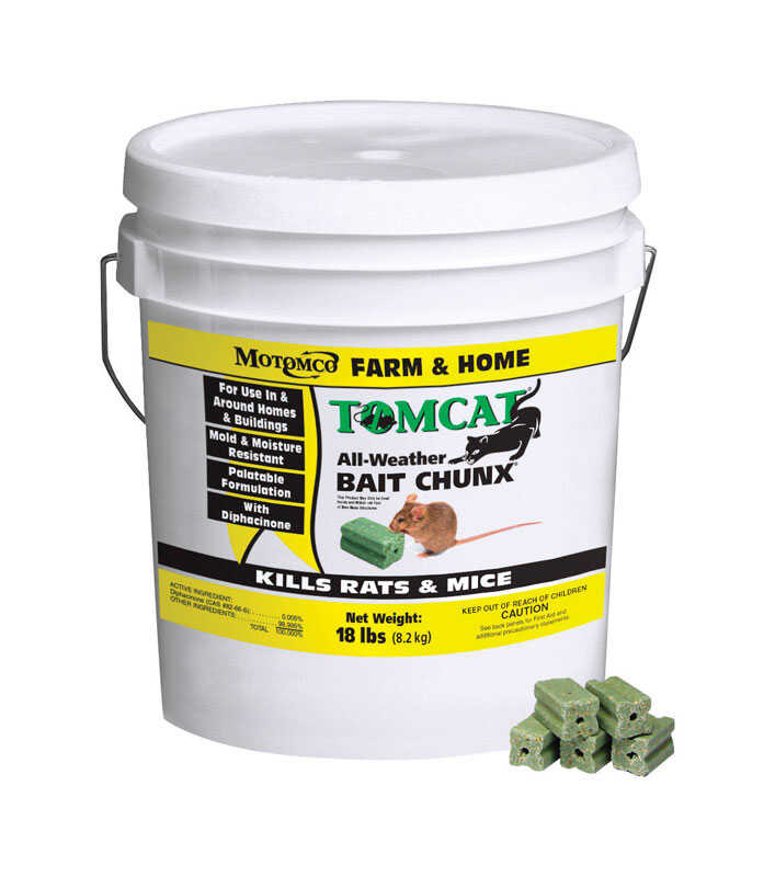 Motomco  Tomcat  Bait  Blocks  For Mice and Rats 18 lb.
