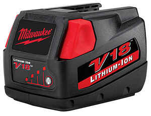 Milwaukee  V18  18 volt 3 Ah Lithium-Ion  Battery Pack  1 pc.