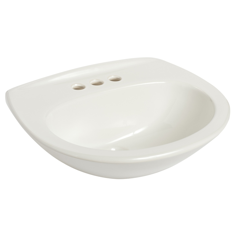 Mansfield  West Hampton  Oval  20.125 in. Lavatory Sink  White