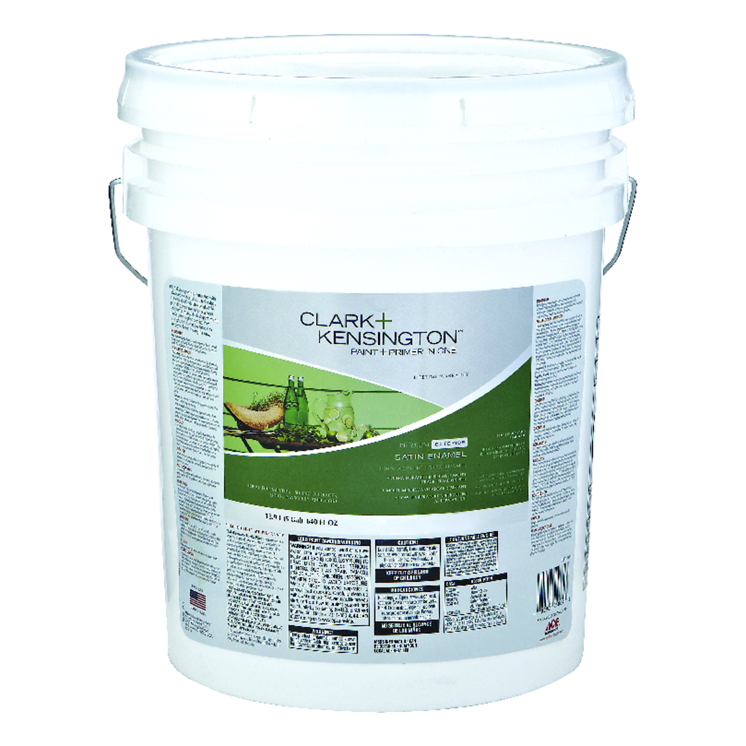 Clark+Kensington  Satin  5 gal. House/Trim Paint  Designer White