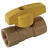BrassCraft  1/2 in. Brass  FIP  Gas Ball Valve