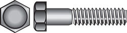 Hillman  5/16 in. Dia. x 4 in. L Zinc Plated  Steel  Hex Bolt  50 pk