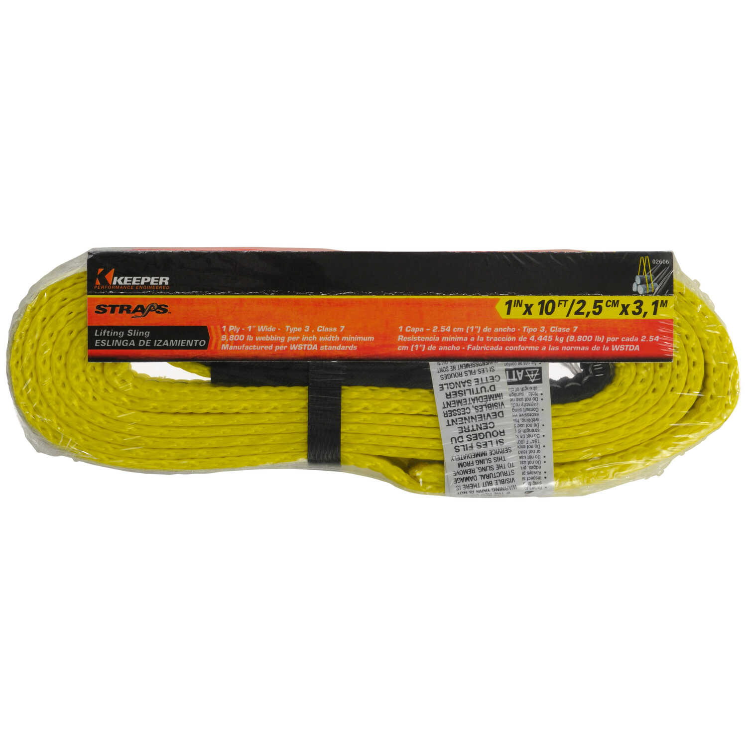 Keeper  10 ft. L Yellow  Lifting Sling  3200 lb. 1 pk