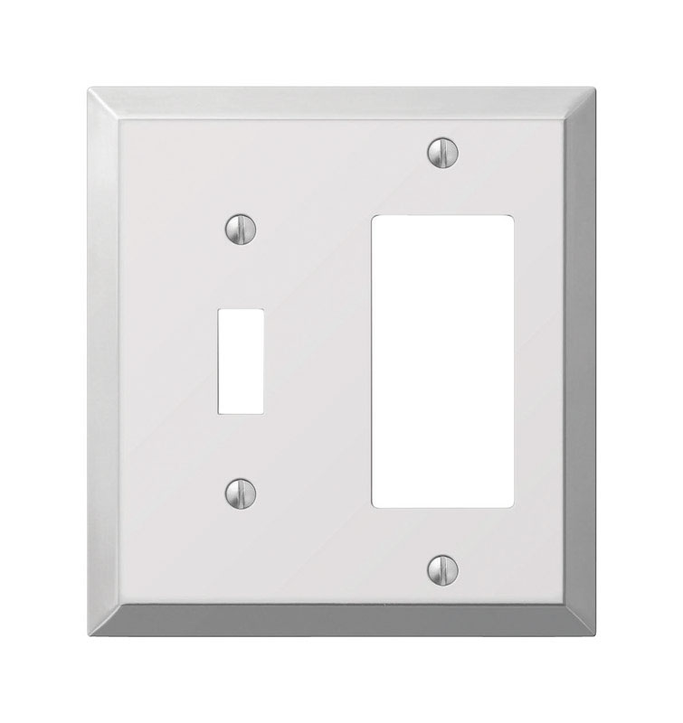 Amerelle  2 gang Stamped Steel  Wall Plate  1 pk
