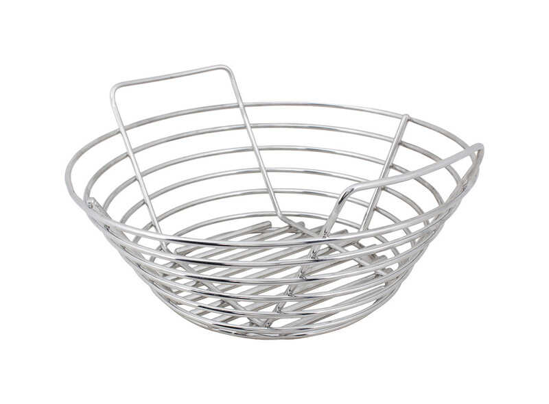 Kick Ash Basket  Stainless Steel  Charcoal Grate  5.5 in. H x 9.5 in. W x 9.5 in. L