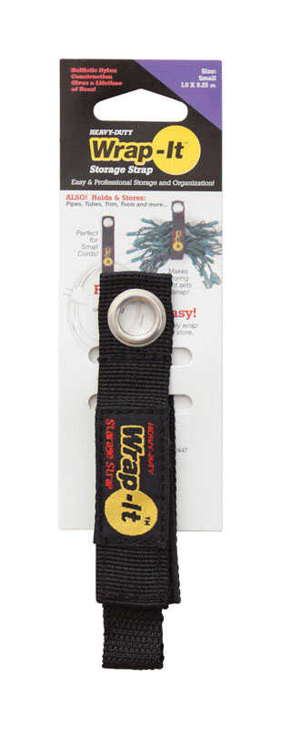 Wrap-It  1 in. W x 9 in. L Black  Bundling Strap  25 lb. 1 each