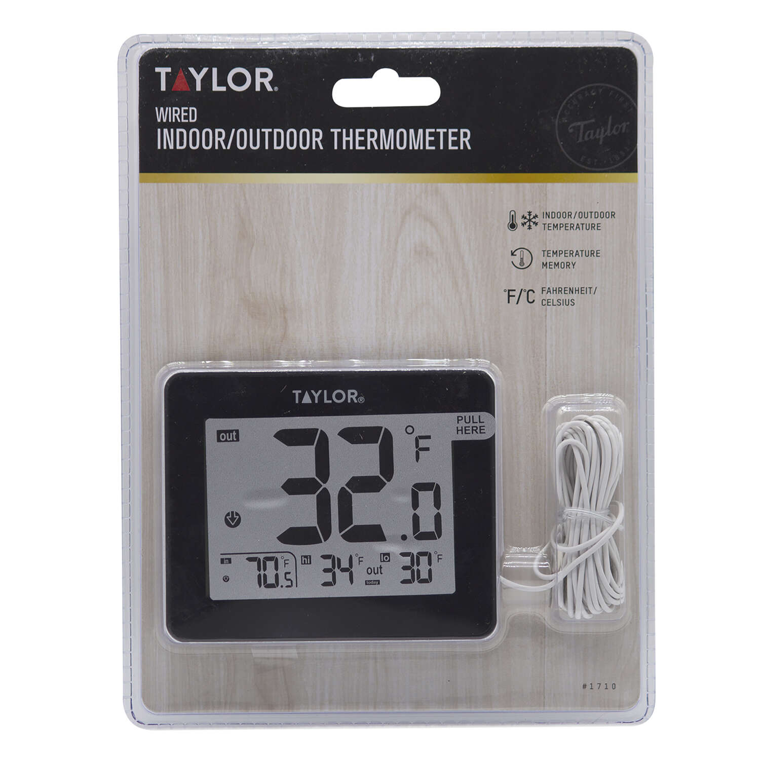 Taylor Wire Probe Digital Thermometer Black Plastic - Ace Hardware