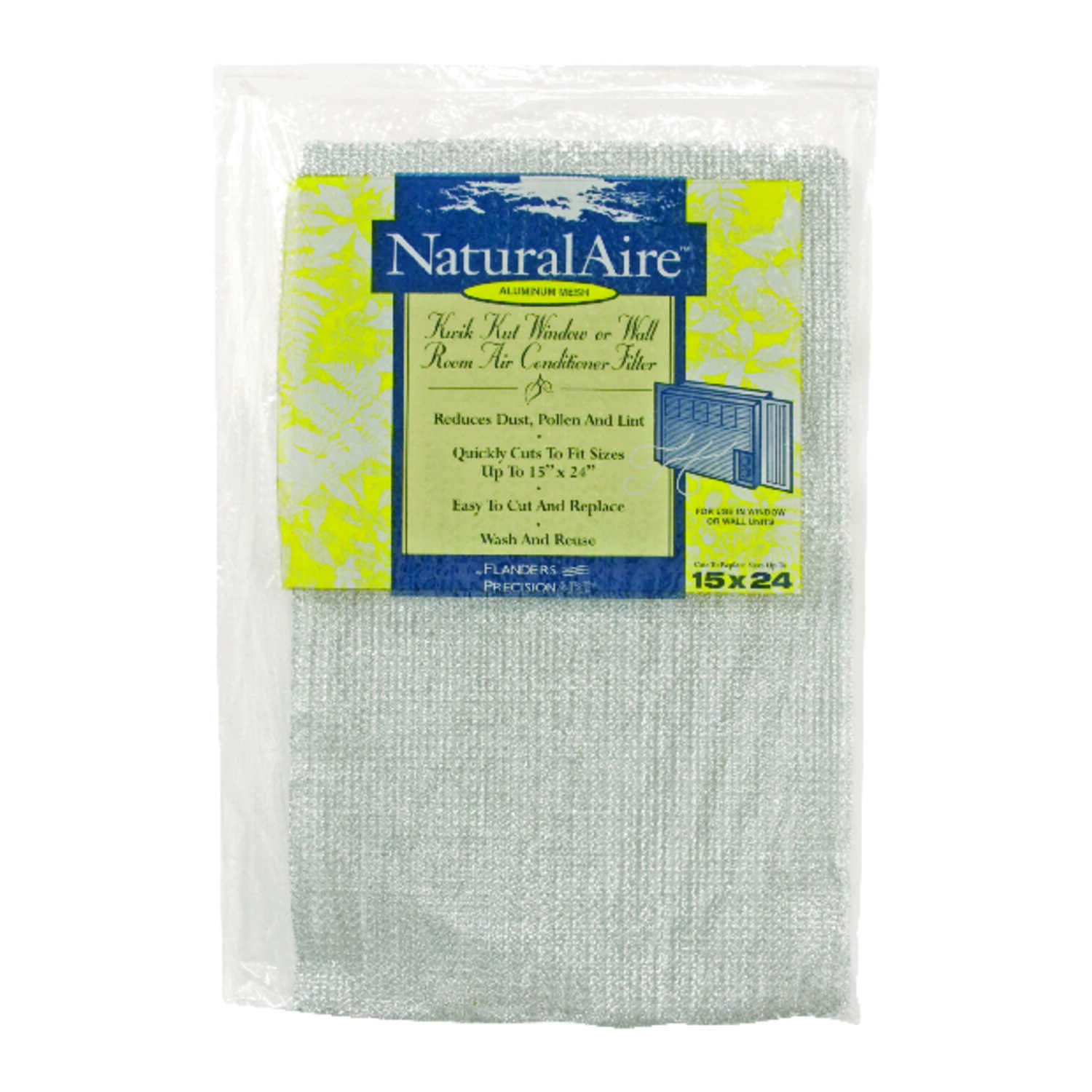 AAF Flanders  NaturalAire  24 in. H x 15 in. W x 1/4 in. D Aluminium  Air Conditioner Filter
