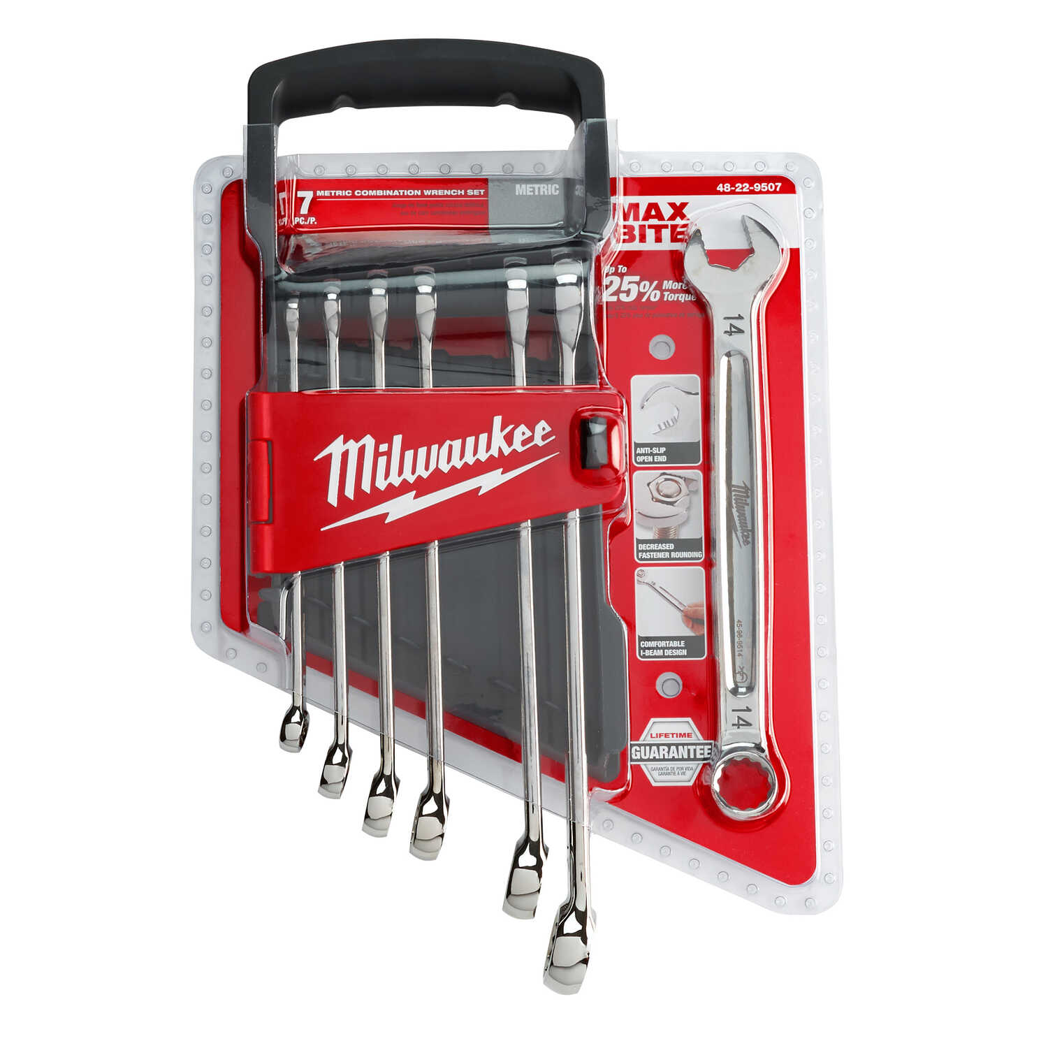 Milwaukee  MAX BITE  Assorted   Metric  Combination  Wrench Set  7 pc.