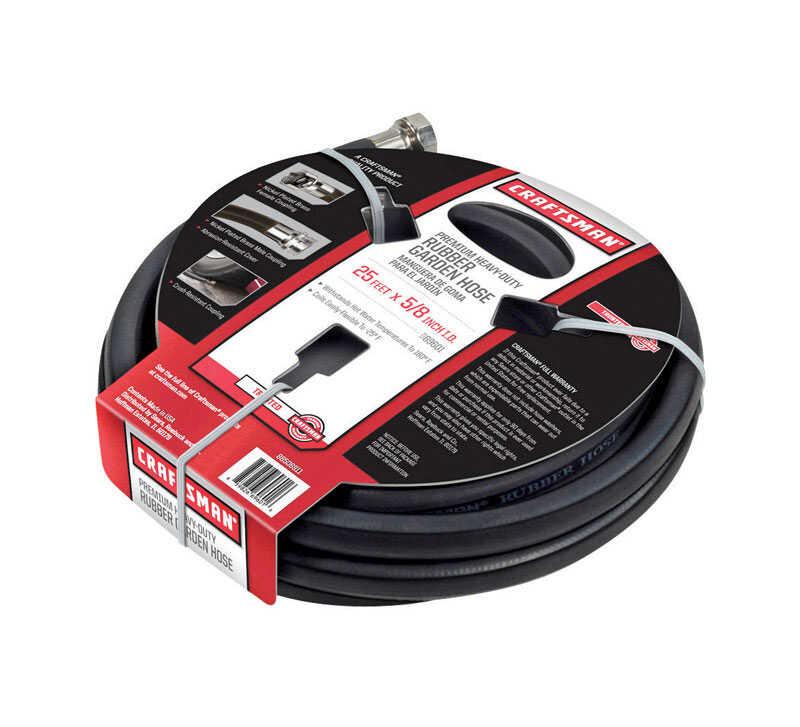 craftsman 58 in dia x 25 ft l black hose premium - Craftsman Garden Hose