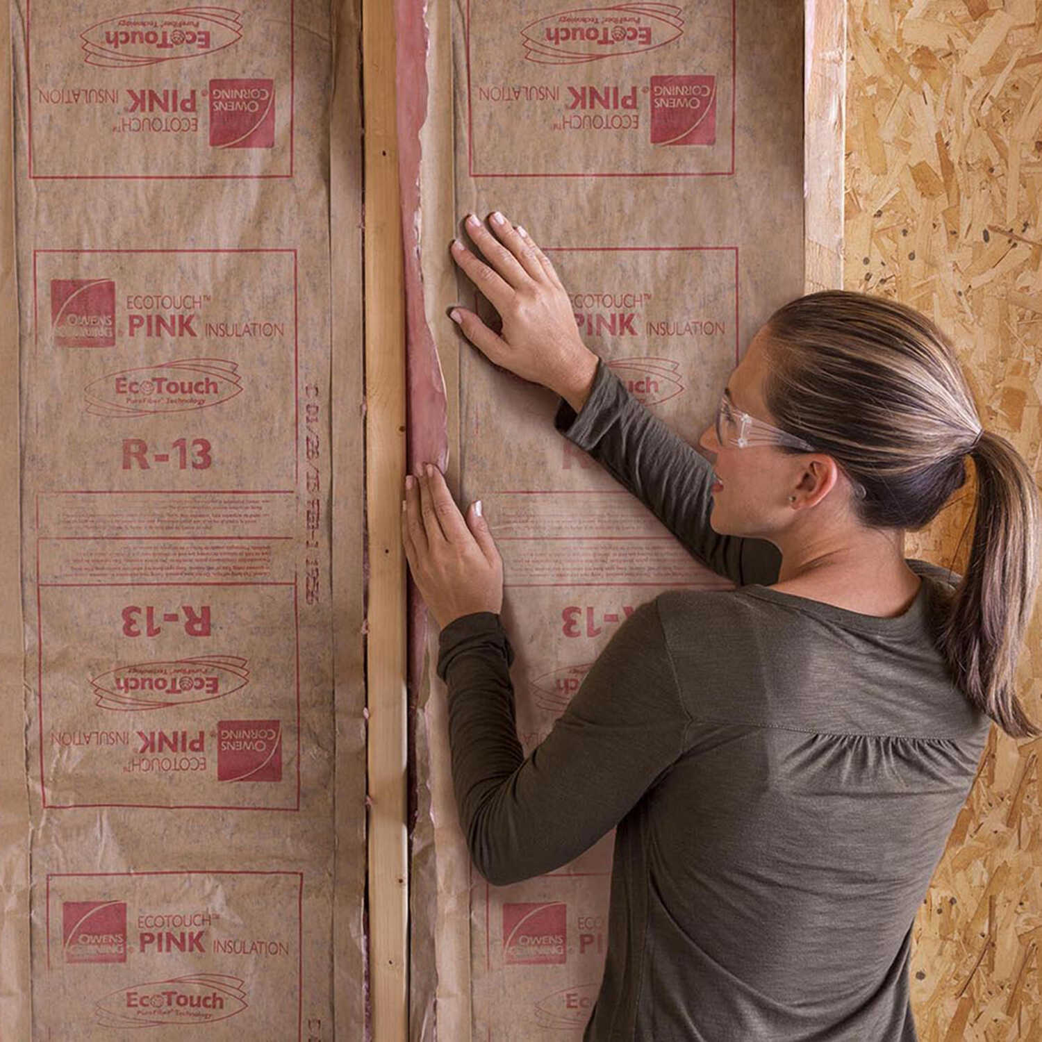 Owens Corning  Eco Touch  23 in. W x 93 in. L 13  Kraft Faced  Fiberglass  Insulation  Batt  148.54