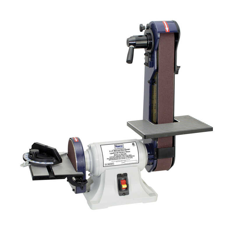 C.H. Hanson  Norse  42 in. L x 2 in. W Corded  Bench Top Belt and Disc Sander  120 volt 3600 rpm