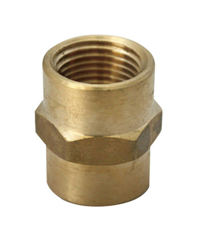 JMF  3/4 FPT in.  Dia. x 1/2 FPT in.  Dia. Brass  Reducing Coupling