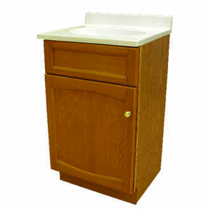 Foremost  Single  Semi-Gloss  Brown  Vanity and Top  33.38 in. H x 19 in. W x 17 in. D