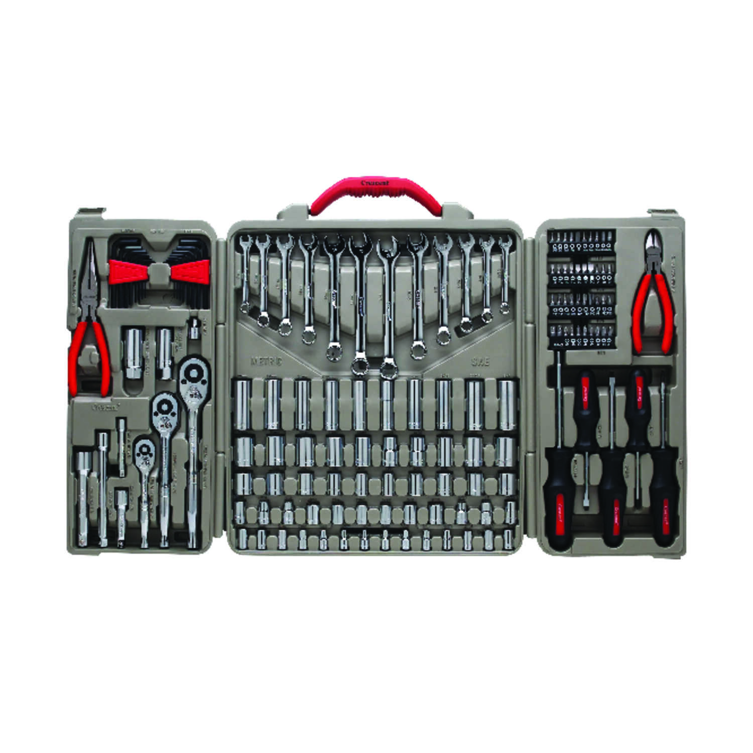 Crescent  148 pc.  Assorted Sizes  x 1/4, 3/8 and 1/2 in.  Metric and SAE  6 and 12  Mechanic's Tool