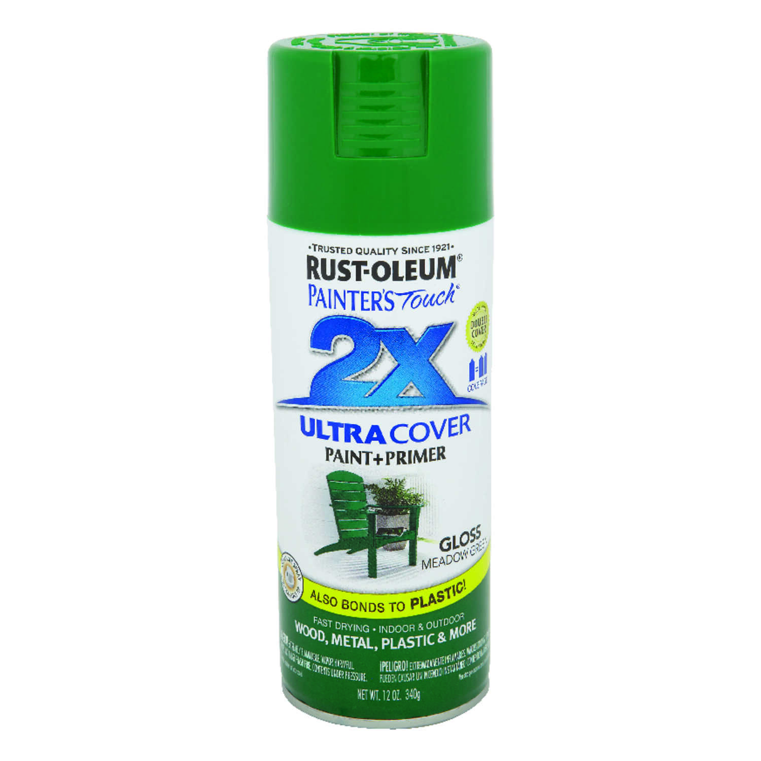 Rust-Oleum  Painter's Touch Ultra Cover  Gloss  Meadow Green  Spray Paint  12 oz.