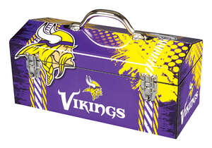 Sainty International  Minnesota Vikings  16.25 in. Minnesota Vikings  Art Deco Tool Box  7.1 in. W x