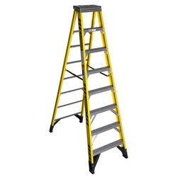 Werner  8 ft. H x 28.5 in. W Fiberglass  Step Ladder  Type IAA  375 lb. capacity