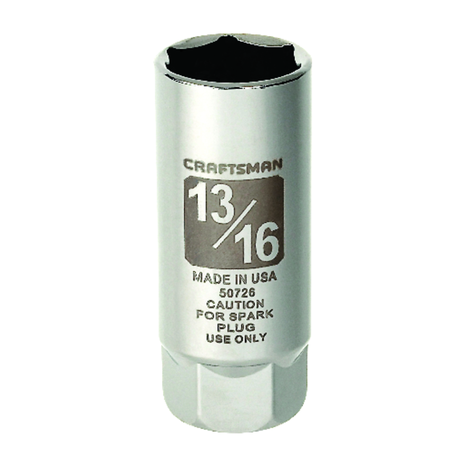 Craftsman  13/16 in.  x 3/8 in. drive  SAE  6 Point Spark Plug Socket  1 pc.